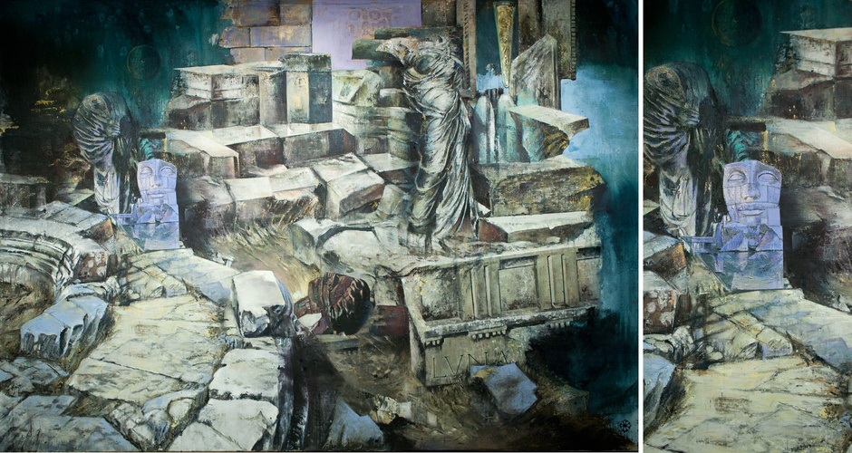 oil and tempera on canvas 190cm x 130cm