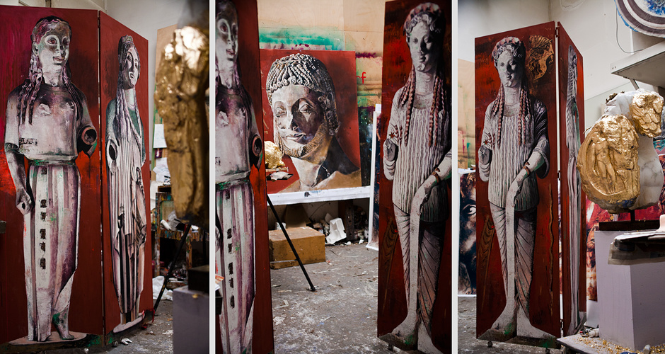<ul> <li>material: tempera on wood panel</li> <li>size: 60cm x 210cm</li> </ul>